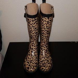 Capelli New York Rain Boots Cheetah Animal Print